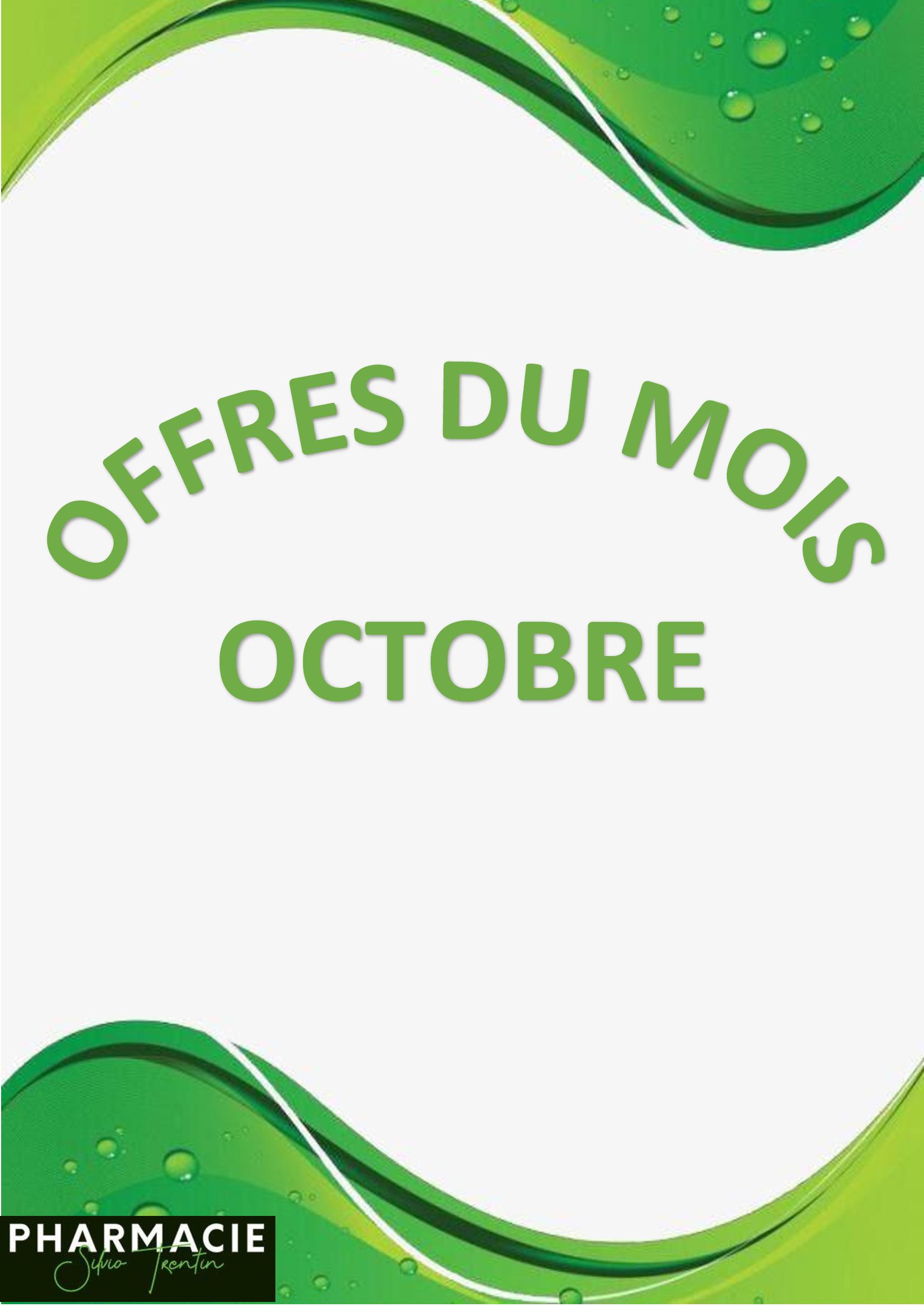 Offres du mois d'Octobre