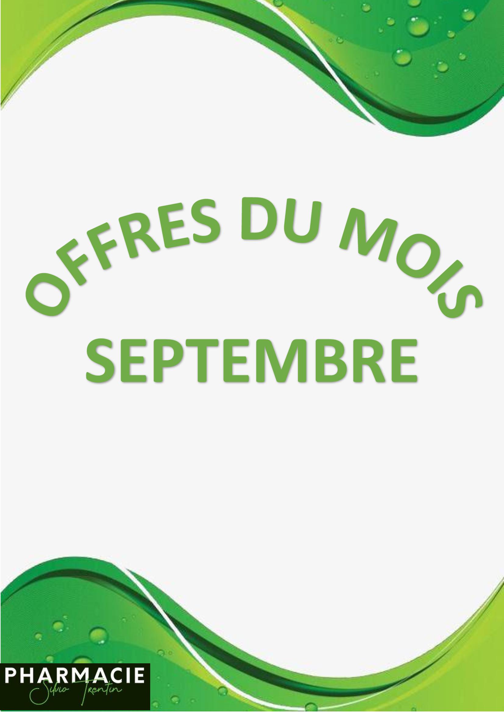 Offres du mois de Septembre